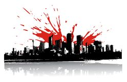 Cityscape background, urban art Royalty Free Stock Photos