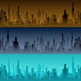Cityscape backgrounds. City in the morning, Royalty Free Stock Photo