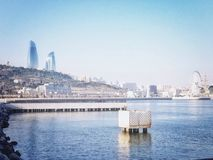 Cityscape of Baku royalty free stock images