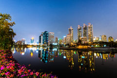 Cityscape in Bangkok. Cityscape in Benjakiti park in Bangkok, Thailand Stock Images