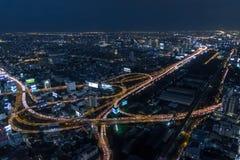 Cityscape Bangkok Arkivfoto