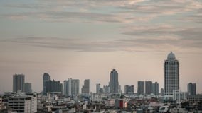 Cityscape of Bangkok. Evening time with Bangkok city view Royalty Free Stock Photography