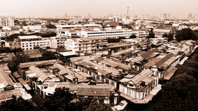 Cityscape of Bangkok, Many old buildings in Bangkok city Stock Images