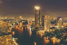 Cityscape of Bangkok at night Royalty Free Stock Photography