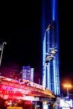 Cityscape Bangkok på den Silom vägen Royaltyfria Foton