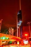 Cityscape Bangkok på den Silom vägen Royaltyfria Bilder