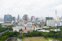 Cityscape of Bangkok on the roof top Stock Images