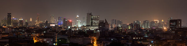 Cityscape Bangkok. The skyline of Bankok, Thailand. Taken from the temple on the mountain Stock Photography