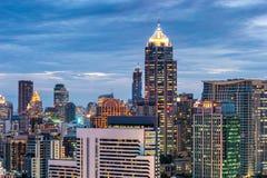 Cityscape Bangkok skyline in sunset time,Thailand Stock Images