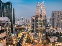 Cityscape Bangkok, THAILAND arkivbilder