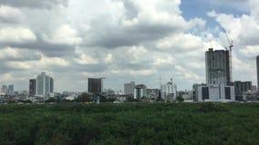 Cityscape of Bangkok stock footage
