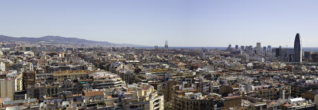 Cityscape of Barcelona Stock Photos