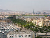 Cityscape of Barcelona Royalty Free Stock Photography