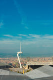 Cityscape of Barcelona stock images