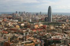Cityscape of Barcelona Royalty Free Stock Images