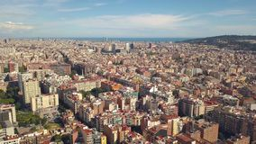 Cityscape of Barcelona. Aerial view stock video footage