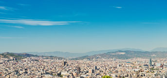 Cityscape of Barcelona. Spain. Royalty Free Stock Photos