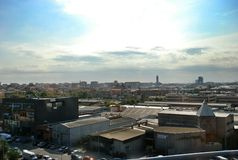 Cityscape of Barcelona Spain Stock Images