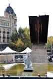 Cityscape of Barcelona Spain Royalty Free Stock Photos