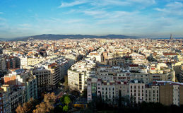 Cityscape of Barcelona. Spain looking northeast Stock Image