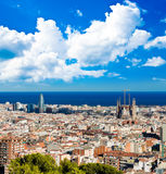 Cityscape of Barcelona Royalty Free Stock Photos