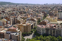 Cityscape of Barcelona, Spain Royalty Free Stock Images