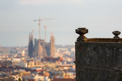 Cityscape of Barcelona Royalty Free Stock Image