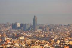 Cityscape of Barcelona Royalty Free Stock Photography