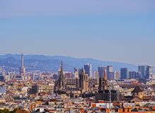 Cityscape of Barcelona Royalty Free Stock Image