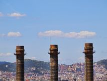 Cityscape of Barcelona Stock Image