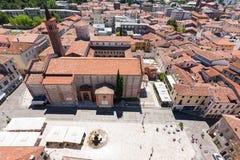 Cityscape from Bassano del Grappa Royalty Free Stock Photos