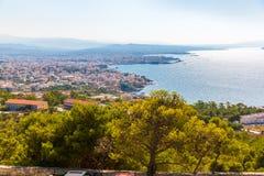 Cityscape and bay in city Chania/Crete Stock Photos