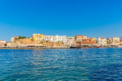 Cityscape and bay in city Chania/Crete Stock Photography