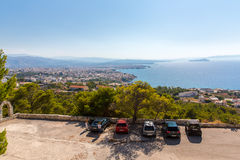 Cityscape and bay in city Chania/Crete Stock Image