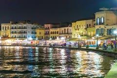 Cityscape and bay in city Chania/Crete/Greece Stock Photo