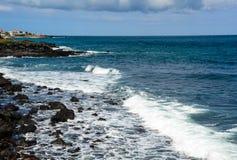 Cityscape with beautiful sea in Jeju Island stock image