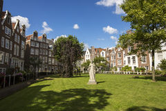 Cityscape in Begijnhof, Amsterdam. Royalty Free Stock Images
