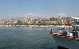 Cityscape of Beirut. In Lebanon form the yachting marina of Beirut Royalty Free Stock Photo