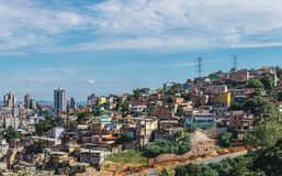 Cityscape of Belo Horizonte, meaning Beautiful Horizon, is the sixth largest city in Brazil royalty free stock photo
