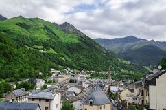 Cityscape below the Pyrenees Royalty Free Stock Photography