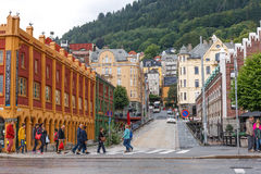 Cityscape of Bergen, Norway Royalty Free Stock Image