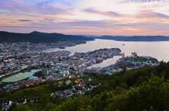Cityscape of Bergen - Norway Stock Photo