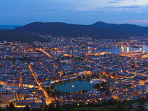 Cityscape of Bergen - Norway stock images