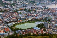 Cityscape of Bergen - Norway Stock Photo