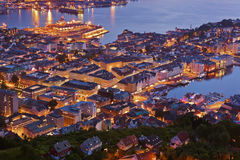 Cityscape of Bergen - Norway Royalty Free Stock Photo
