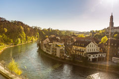 Cityscape in Berne, Switzerland. In the afternoon stock image