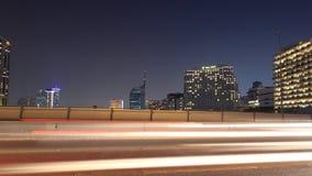 Cityscape bezig verkeer, tijdtijdspanne stock video
