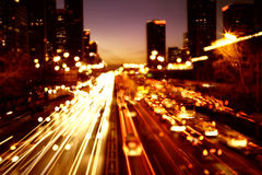 Cityscape bij nacht Royalty-vrije Stock Afbeelding