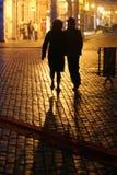 Cityscape bij nacht royalty-vrije stock foto's