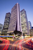 Cityscape bij Schemer in Shinjuku-District, Tokyo, Japan Stock Afbeelding